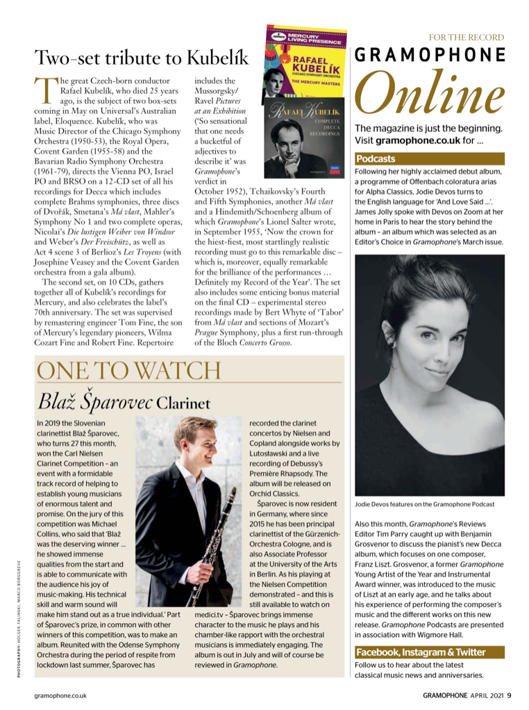 Gramophone One to watch